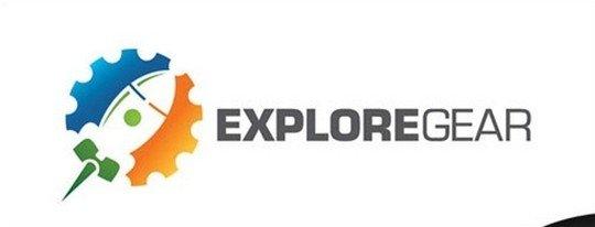 explore gear - outdoor lifestyle adventure logo - logo psd file