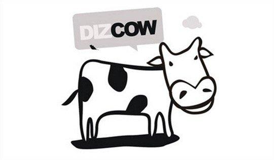 dizcow - logo psd file
