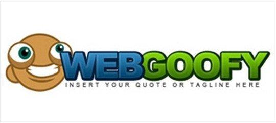 web goofy logo - logo psd file
