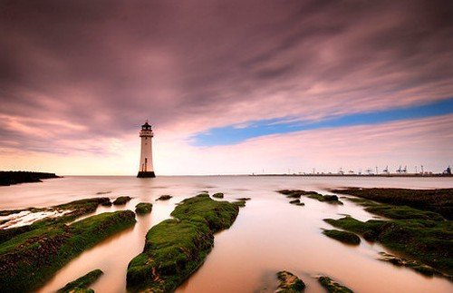 from east to west; new brighton, the wirral - long exposure photos