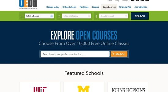 Free Online Classes - 10,000+ Courses on Open Education Database