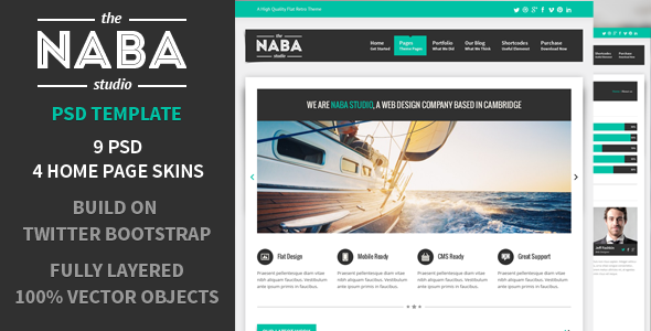 naba:multipurpose psd business theme