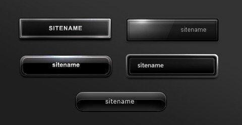 buttons.012 : 5 black buttons