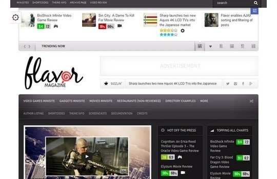 Flavor – Responsive/HD Magazine/Review AJAX Theme