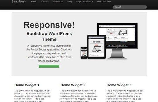 Free Bootstrap WordPress Theme