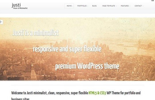 Justi Responsive Bootstrap Website Template