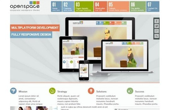 OpenSpace Responsive Mulipurpose WordPress Bootstrap Theme