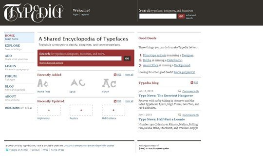typedia: a shared encyclopedia of typefaces