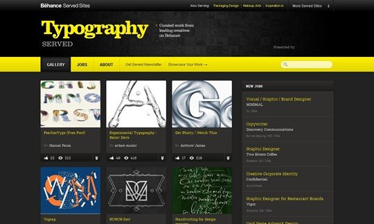 typography served :: gallery