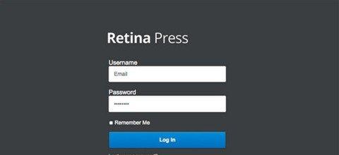 retina press – wordpress admin theme