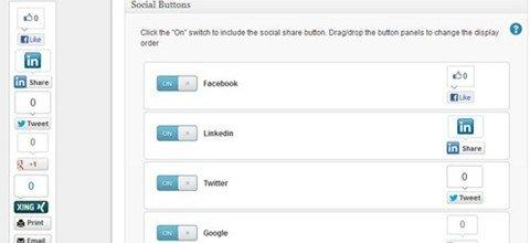 wordpress social share buttons