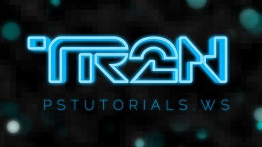 glowing tron inspired 3d text