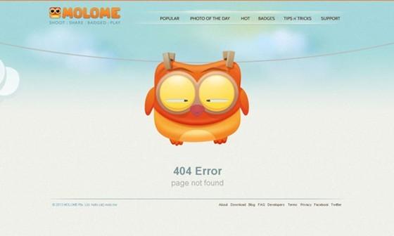 Molome - 404 page designs