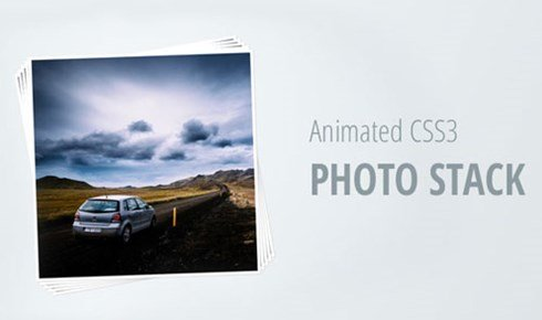 animated css3 photo stack