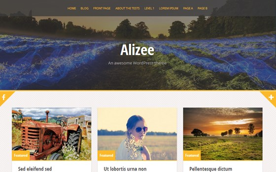 alizee free wordpress theme