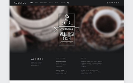 auberge free wordpress theme
