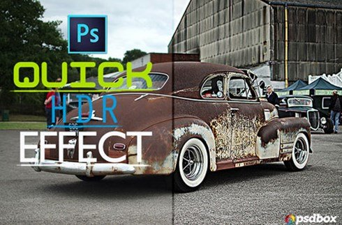 quick hdr effect in photoshop