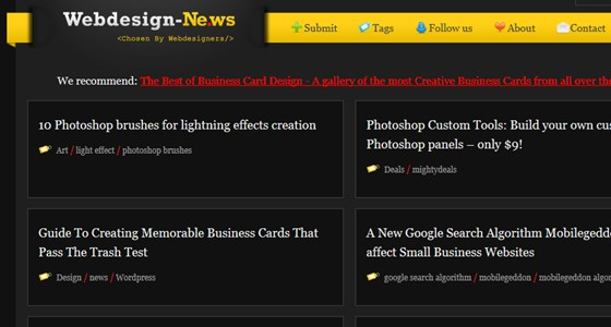 web design community news