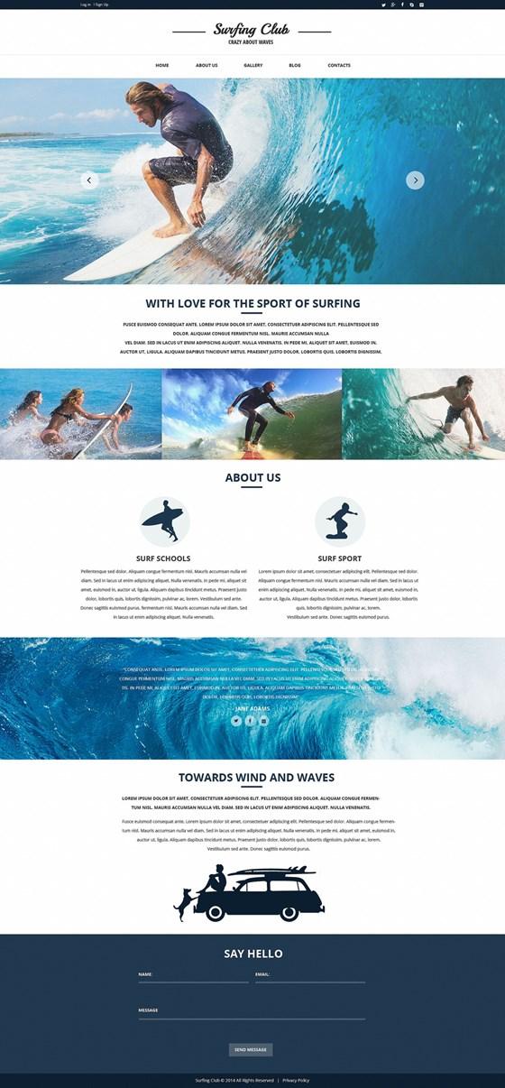Surfing Responsive Website Template