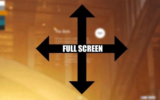 Full Screen videos