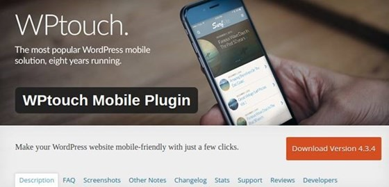 WPTouch Mobile - WordPress Plugin