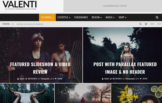 Valenti WordPress HD Review Magazine News Theme