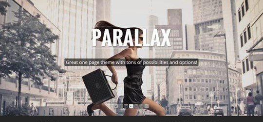 907 one page parallax
