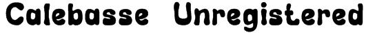 Calebasse (Unregistered) Font