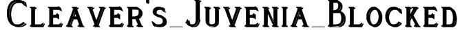 Cleaver's_Juvenia_Blocked Font