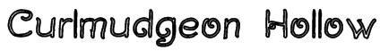 Curlmudgeon Hollow Font