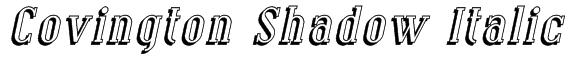 Covington Shadow Italic Font