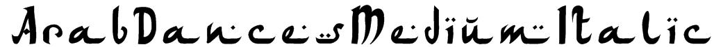 ArabDancesMediumItalic Font