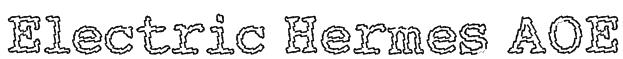 Electric Hermes AOE Font