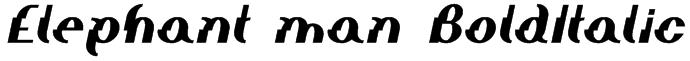 Elephant man BoldItalic Font