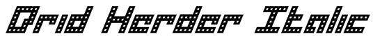 Drid Herder Italic Font