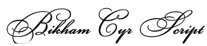 Bikham Cyr Script Font