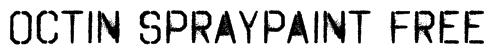 Octin Spraypaint Free Font