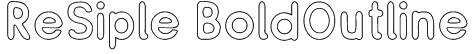 ReSiple BoldOutline Font