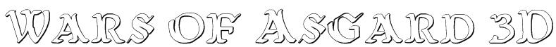 Wars of Asgard 3D Font