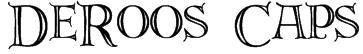 DeRoos Caps Font