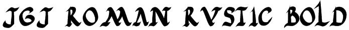 JGJ Roman Rustic Bold Font