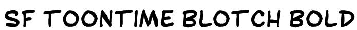 SF Toontime Blotch Bold Font