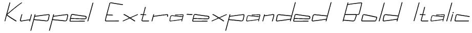 Kuppel Extra-expanded Bold Italic Font