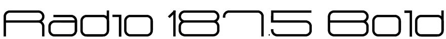 Radio 187.5 Bold Font