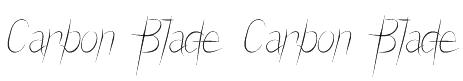 Carbon Blade Carbon Blade Font