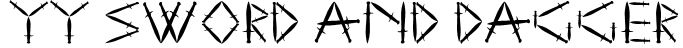 YY Sword and Dagger Font