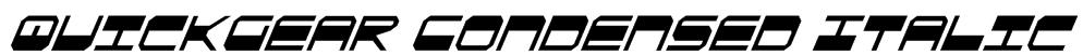 QuickGear Condensed Italic Font