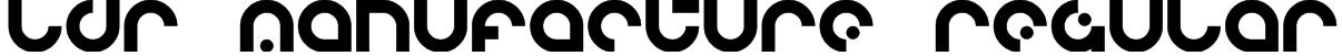 LDR MANUFACTURE Regular Font
