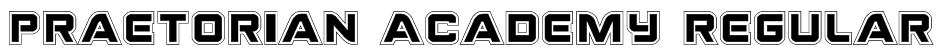 Praetorian Academy Regular Font