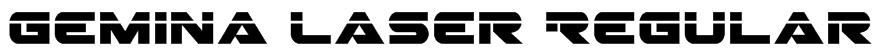 Gemina Laser Regular Font